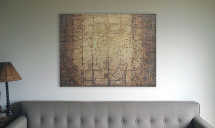 "Abstract art painting ""Archetype #2"" by Arnold Chao - interior design view"